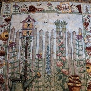 Other - Lovely tapestry style woven throw blanket